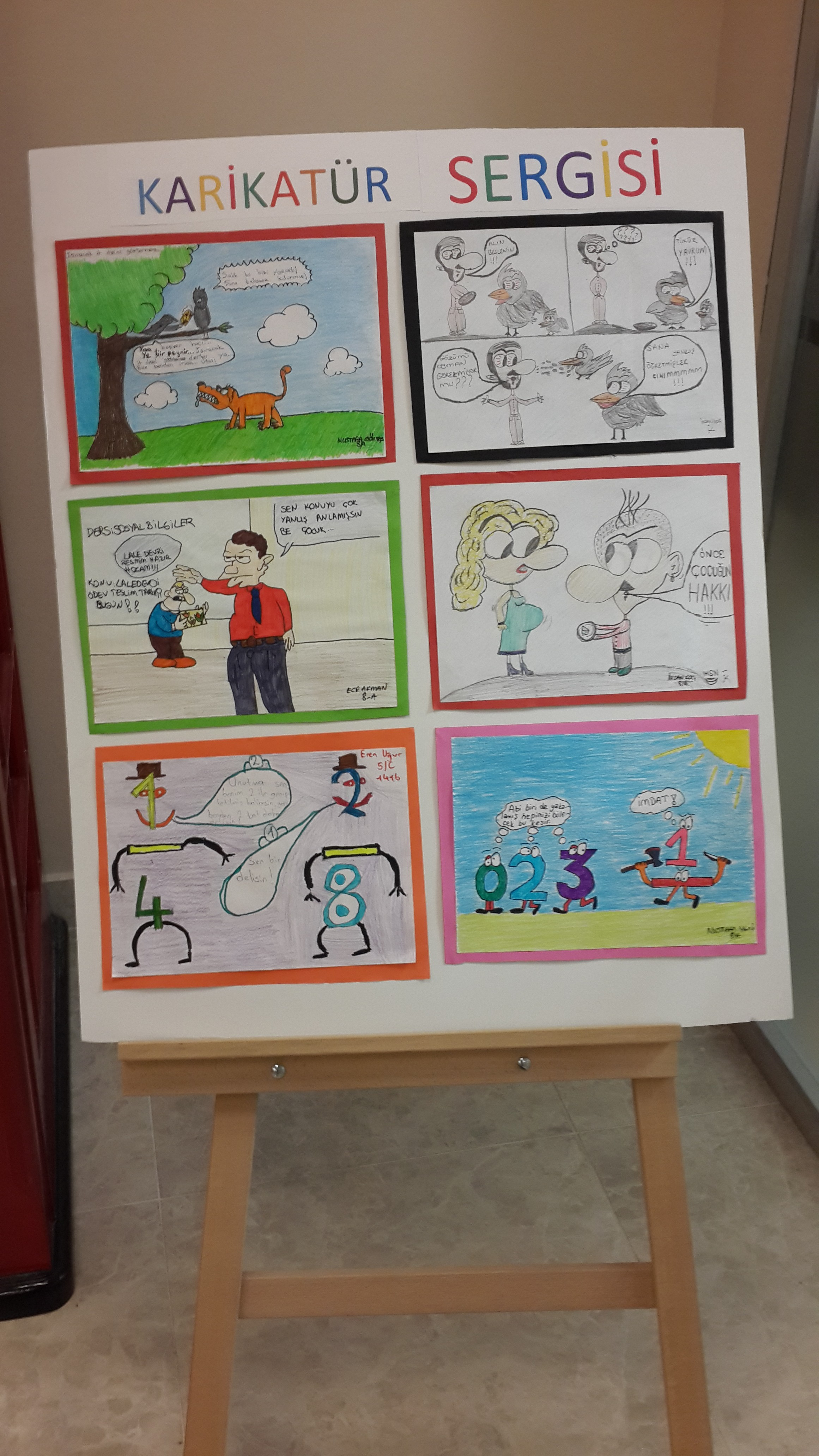Mizah ile çizimi buluşturan karikatür sergisi